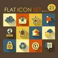 Internet web icon set vector flat design Royalty Free Stock Photos