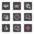 Internet web icons Royalty Free Stock Image