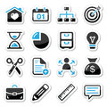 Internet, web icons as labels Stock Photos