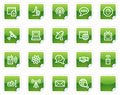 Internet web icons, green sticker series Stock Image