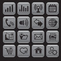 Internet web icons set square shape Stock Photo