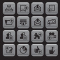 Internet web icons set square shape vector Royalty Free Stock Photo