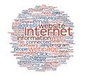 Internet webpage tag cloud Stock Photo