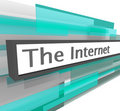 Internet Website Address Bar Royalty Free Stock Photo