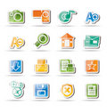 Internet and Website icons Royalty Free Stock Image