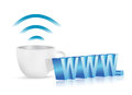 Internet www coffee mug concept illustration design over white Royalty Free Stock Photo
