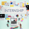 Internship Management Temporary Position Concept Royalty Free Stock Photo