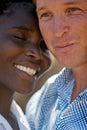 Interracial paar van het portret Royalty-vrije Stock Foto's