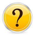 Interrogative mark yellow circ Royalty Free Stock Images