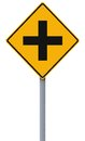 Intersection ahead road sign Royalty Free Stock Photography