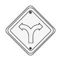 Intersection traffic signal icon Royalty Free Stock Photo