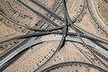 Interstate 10 and Loop 202 San Tan Interchange Royalty Free Stock Photo