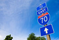 Interstate 70 Road Sign Stock Images