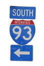 Interstate 93 sign Stock Image