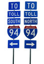Interstate 94 Road Sign Royalty Free Stock Photo