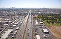 Interstate approaching stack interchange phoenix arizona Stock Photo