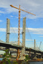 Abraham Lincoln Bridge under construction Royalty Free Stock Photo