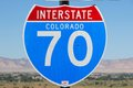 Interstate colorado united states famous sign Stock Photos
