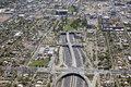Interstate at the deck park looking east tunnel in phoenix arizona Stock Images