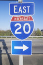 Interstate Highway 20 East Stock Photos