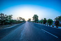 Interstate highway from gujarat to rajasthan india photo taken at early morning Stock Image