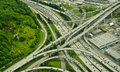Interstate Junction Aerial View Royalty Free Stock Images