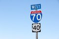 Interstate 70 Royalty Free Stock Photo