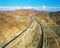 Interstate near the arizona california border from above Stock Images