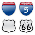 Interstate and US Route 66 signs Stock Photography
