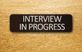 Interview in Progress Stock Photo