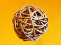 Interwoven wooden ball Royalty Free Stock Images