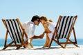 Intimate beach couple Royalty Free Stock Photo