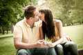 Intimate moments - couple kissing Stock Images