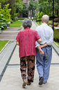 An intimate senior couple Royalty Free Stock Photo