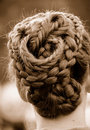 Intricate Braided Hair Royalty Free Stock Photography