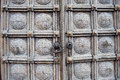 Intricate carved wooden doors of church, Sofia, Bulgaria Royalty Free Stock Photo