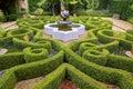 Intricate knot garden