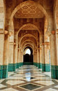 Intricate marble and mosaic archway Hassan mosque Royalty Free Stock Photos