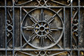 Intricate Wrought Iron Metal Railing or Baluster Royalty Free Stock Photo
