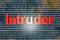Intruder in digital code d illustration Royalty Free Stock Image