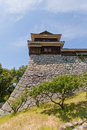 Inui (Northwest) Turret of Matsuyama castle, Japan Royalty Free Stock Photo