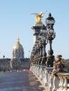 The Invalides from the Alexander III bridge, Paris Royalty Free Stock Photo