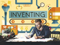 Inventing Innovation Create Creative Process Concept Royalty Free Stock Photo