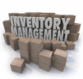 Inventory Management Words Logistic Supply Chain Control Boxes P Royalty Free Stock Photo