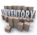 Inventory Word Stockpile Cardboard Boxes Surplus Stock Photo