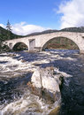 Invercauld bridge over river dee aberdeenshire scotland near braemar Royalty Free Stock Photos