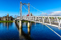 Inverness bridge scotland suspension uk Stock Photo