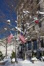 Inverno in Washington DC Fotografia Stock Libera da Diritti