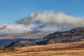 Inversion clouds hugging tops mountains snowdonia national park north wales Stock Photography
