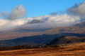 Inversion clouds hugging tops mountains snowdonia national park north wales Stock Photos